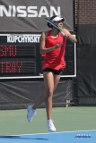 DALLAS, TX - MARCH 16: Ana Perez-Lopez during the SMU women's tennis match vs Troy on March 16, 2018, at the SMU Tennis Complex, Turpin Stadium & Brookshire Family Pavilion in Dallas, TX. (Photo by George Walker/DFWsportsonline)