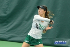 Plano, TX - April 14: Haruka Sasaki during the North Texas Women's Tennis dual match against the University of Arlington at the Lifetime Plano Tennis facility in Plano, TX. (Photo by Mark Woods/DFWsportsonline)