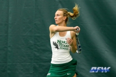 Plano, TX - April 14: Maria Kononova during the North Texas Women's Tennis dual match against the University of Arlington at the Lifetime Plano Tennis facility in Plano, TX. (Photo by Mark Woods/DFWsportsonline)