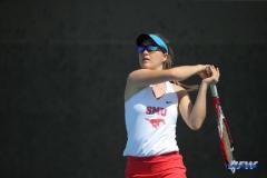 DALLAS, TX - APRIL 18: Karina Traxler during the SMU women's tennis match vs Temple on April 18, 2018, at the SMU Tennis Complex, Turpin Stadium & Brookshire Family Pavilion in Dallas, TX. (Photo by George Walker/DFWsportsonline)