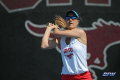 DALLAS, TX - APRIL 18: Karina Traxler during the SMU women's tennis match vs Temple on April 18, 2018, at the SMU Tennis Complex, Turpin Stadium & Brookshire Family Pavilion in Dallas, TX. (Photo by George Walker/DFWsportsonline)