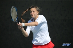 DALLAS, TX - APRIL 18: Liza Buss during the SMU women's tennis match vs Temple on April 18, 2018, at the SMU Tennis Complex, Turpin Stadium & Brookshire Family Pavilion in Dallas, TX. (Photo by George Walker/DFWsportsonline)