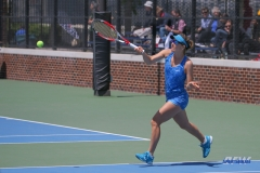DALLAS, TX - APRIL 19: Karina Traxler during the SMU women's tennis match vs USF on April 19, 2018, at the SMU Tennis Complex, Turpin Stadium & Brookshire Family Pavilion in Dallas, TX. (Photo by George Walker/DFWsportsonline)