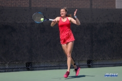 DALLAS, TX - APRIL 20: Liza Buss during the SMU women's tennis match vs UCF on April 20, 2018, at the SMU Tennis Complex, Turpin Stadium & Brookshire Family Pavilion in Dallas, TX. (Photo by George Walker/DFWsportsonline)