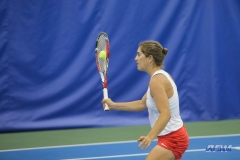 DALLAS, TX - APRIL 21: Karina Traxler during the SMU women's tennis match vs Tulsa on April 21, 2018, at the SMU Tennis Complex, Turpin Stadium & Brookshire Family Pavilion in Dallas, TX. (Photo by George Walker/DFWsportsonline)