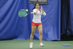 DALLAS, TX - APRIL 21: Sarai Monarrez Yesaki during the SMU women's tennis match vs Tulsa on April 21, 2018, at the SMU Tennis Complex, Turpin Stadium & Brookshire Family Pavilion in Dallas, TX. (Photo by George Walker/DFWsportsonline)