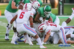 DENTON, TX - SEPTEMBER 01: UNT running back Loren Easly (23) during the game between North Texas and SMU on September 1, 2018 at Apogee Stadium in Denton, TX. (Photo by Mark Woods/DFWsportsonline)