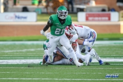 DENTON, TX - SEPTEMBER 01: North Texas Mean Green running back Nic Smith (21) runs during the game between North Texas and SMU on September 1, 2018 at Apogee Stadium in Denton, TX. (Photo by George Walker/DFWsportsonline)