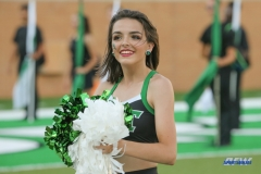 DENTON, TX - SEPTEMBER 01: A North Texas cheerleader performs during the game between North Texas and SMU on September 1, 2018 at Apogee Stadium in Denton, TX. (Photo by George Walker/Icon Sportswire)