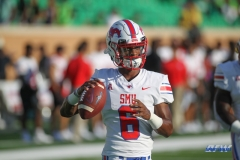 DENTON, TX - SEPTEMBER 01: Southern Methodist Mustangs safety Elijah McQueen (6) warms up before the game between North Texas and SMU on September 1, 2018 at Apogee Stadium in Denton, TX. (Photo by George Walker/Icon Sportswire)