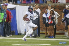 DALLAS, TX - SEPTEMBER 07: TCU Horned Frogs wide receiver KaVontae Turpin (25) runs to the end zone for a touchdown during the game between TCU and SMU on September 7, 2018 at Gerald J. Ford Stadium in Dallas, TX. (Photo by George Walker/Icon Sportswire)