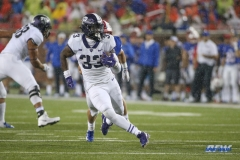 DALLAS, TX - SEPTEMBER 07: TCU Horned Frogs running back Sewo Olonilua (33) carries the ball during the game between TCU and SMU on September 7, 2018 at Gerald J. Ford Stadium in Dallas, TX. (Photo by George Walker/Icon Sportswire)