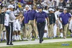 DALLAS, TX - SEPTEMBER 07: TCU Horned Frogs head coach Gary Patterson paces the sideline during the game between TCU and SMU on September 7, 2018 at Gerald J. Ford Stadium in Dallas, TX. (Photo by George Walker/Icon Sportswire)