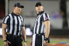 DALLAS, TX - SEPTEMBER 07: Officials watch the video board during the game between TCU and SMU on September 7, 2018 at Gerald J. Ford Stadium in Dallas, TX. (Photo by George Walker/Icon Sportswire)