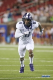 DALLAS, TX - SEPTEMBER 07: TCU Horned Frogs safety Innis Gaines (6) blitzes the quarterback during the game between TCU and SMU on September 7, 2018 at Gerald J. Ford Stadium in Dallas, TX. (Photo by George Walker/Icon Sportswire)