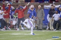 DALLAS, TX - SEPTEMBER 07: Southern Methodist Mustangs running back Braeden West (6) runs to the end zone for a touchdown during the game between TCU and SMU on September 7, 2018 at Gerald J. Ford Stadium in Dallas, TX. (Photo by George Walker/Icon Sportswire)