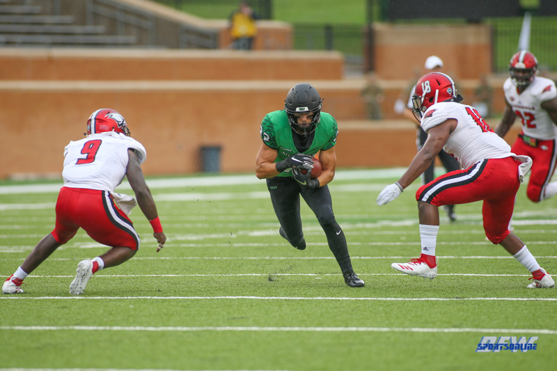 DENTON, TX - SEPTEMBER 08: during the game between North Texas and Incarnate Word on September 8, 2018 at Apogee Stadium in Denton, TX. (Photo by George Walker/DFWsportsonline)
