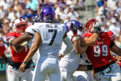 DALLAS, TX - SEPTEMBER 16:  during the game between the SMU Mustangs and TCU Horned Frogs on September 16, 2017, at Amon G. Carter Stadium in Fort Worth, Texas.  (Photo by George Walker/DFWsportsonline)