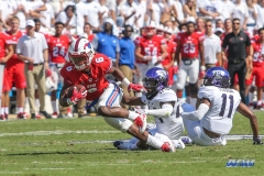 DALLAS, TX - SEPTEMBER 16: Southern Methodist Mustangs running back Braeden West (6) during the game between the SMU Mustangs and TCU Horned Frogs on September 16, 2017, at Amon G. Carter Stadium in Fort Worth, Texas.  (Photo by George Walker/DFWsportsonline)