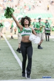 DENTON, TX - SEPTEMBER 23: UNT DANCER DURING THE GAME BETWEEN THE UNT MEAN GREEN AND UAB BLAZERS ON SEPTEMBER 23, 2017, AT APOGEE STADUIM IN DENTON, TEXAS. (PHOTO BY MARK WOODS/DFWSPORTSONLINE)