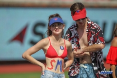 DALLAS, TX - SEPTEMBER 30: SMU fans during the game between SMU and UConn on September 30, 2017, at Gerald J. Ford Stadium in Dallas, TX. (Photo by George Walker/DFWsportsonline)