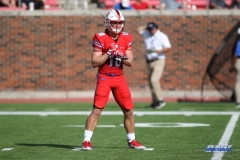 DALLAS, TX - SEPTEMBER 30: Southern Methodist Mustangs wide receiver Trey Quinn (18) during the game between SMU and UConn on September 30, 2017, at Gerald J. Ford Stadium in Dallas, TX. (Photo by George Walker/DFWsportsonline)