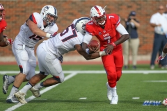 DALLAS, TX - SEPTEMBER 30: Southern Methodist Mustangs quarterback D.J. Gillins (7) during the game between SMU and UConn on September 30, 2017, at Gerald J. Ford Stadium in Dallas, TX. (Photo by George Walker/DFWsportsonline)