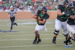 DENTON, TX - OCTOBER 14: North Texas Mean Green quarterback Mason Fine (6) during the game between the North Texas Mean Green and UTSA Roadrunners on October 14, 2017, at Apogee Stadium in Denton, Texas. (Photo by George Walker/DFWsportsonline)