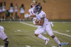 DENTON, TX - OCTOBER 14: UTSA Roadrunners running back Tyrell Clay (22) during the game between the North Texas Mean Green and UTSA Roadrunners on October 14, 2017, at Apogee Stadium in Denton, Texas. (Photo by George Walker/DFWsportsonline)