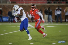 DALLAS, TX - OCTOBER 27: Tulsa Golden Hurricane wide receiver Nigel Carter (11) runs after a catch during the game between SMU and Tulsa on October 27, 2017, at Gerald J. Ford Stadium in Dallas, TX. (Photo by George Walker/Icon Sportswire)
