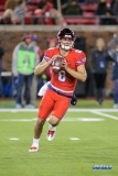 DALLAS, TX - OCTOBER 27: Southern Methodist Mustangs quarterback Ben Hicks (8) during the game between SMU and Tulsa on October 27, 2017, at Gerald J. Ford Stadium in Dallas, TX. (Photo by George Walker/DFWsportsonline)
