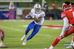DALLAS, TX - OCTOBER 27: Tulsa Golden Hurricane running back D'Angelo Brewer (4) during the game between SMU and Tulsa on October 27, 2017, at Gerald J. Ford Stadium in Dallas, TX. (Photo by George Walker/DFWsportsonline)