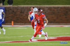 DALLAS, TX - OCTOBER 27: Southern Methodist Mustangs running back Xavier Jones (5) during the game between SMU and Tulsa on October 27, 2017, at Gerald J. Ford Stadium in Dallas, TX. (Photo by George Walker/DFWsportsonline)