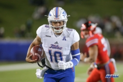 DALLAS, TX - OCTOBER 27: Tulsa Golden Hurricane quarterback Chad President (10) runs into the end zone for a touchdown during the game between SMU and Tulsa on October 27, 2017, at Gerald J. Ford Stadium in Dallas, TX. (Photo by George Walker/Icon Sportswire)