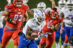 DALLAS, TX - OCTOBER 27: Tulsa Golden Hurricane running back D'Angelo Brewer (4) runs into the end zone for a touchdown during the game between SMU and Tulsa on October 27, 2017, at Gerald J. Ford Stadium in Dallas, TX. (Photo by George Walker/Icon Sportswire)