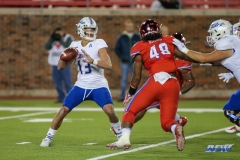 DALLAS, TX - OCTOBER 27: Tulsa Golden Hurricane quarterback Luke Skipper (13) passes during the game between SMU and Tulsa on October 27, 2017, at Gerald J. Ford Stadium in Dallas, TX. (Photo by George Walker/Icon Sportswire)