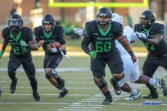 DENTON, TX - OCTOBER 28: North Texas Mean Green offensive lineman Sosaia Mose (60) during the game between the North Texas Mean Green and Old Dominion Monarchs on October 28, 2017, at Apogee Stadium in Denton, Texas. (Photo by George Walker/DFWsportsonline)