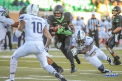 DENTON, TX - OCTOBER 28: North Texas Mean Green running back Jeffery Wilson (3) during the game between the North Texas Mean Green and Old Dominion Monarchs on October 28, 2017, at Apogee Stadium in Denton, Texas. (Photo by George Walker/DFWsportsonline)