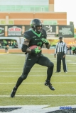 DENTON, TX - OCTOBER 28: North Texas Mean Green running back Jeffery Wilson (3) goes into the end zone for a touchdown during the game between the North Texas Mean Green and Old Dominion Monarchs on October 28, 2017, at Apogee Stadium in Denton, Texas. (Photo by George Walker/DFWsportsonline)