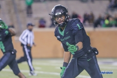 DENTON, TX - OCTOBER 28: North Texas Mean Green wide receiver Turner Smiley (1) during the game between the North Texas Mean Green and Old Dominion Monarchs on October 28, 2017, at Apogee Stadium in Denton, Texas. (Photo by George Walker/DFWsportsonline)