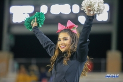 DENTON, TX - OCTOBER 28: North Texas Cheerleader during the game between the North Texas Mean Green and Old Dominion Monarchs on October 28, 2017, at Apogee Stadium in Denton, Texas. (Photo by George Walker/DFWsportsonline)