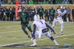 DENTON, TX - OCTOBER 28: North Texas Mean Green wide receiver Rico Bussey Jr. (8) during the game between the North Texas Mean Green and Old Dominion Monarchs on October 28, 2017, at Apogee Stadium in Denton, Texas. (Photo by George Walker/DFWsportsonline)