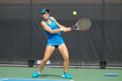DALLAS, TX - NOVEMBER 04: Karina Traxler during the SMU women's tennis Red and Blue Challenge on November 4, 2017, at the SMU Tennis Complex, Turpin Stadium & Brookshire Family Pavilion in Dallas, TX. (Photo by George Walker/DFWsportsonline)