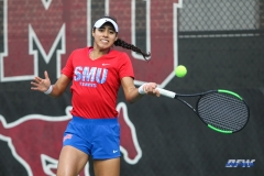 DALLAS, TX - NOVEMBER 04: Ana Perez-Lopez during the SMU women's tennis Red and Blue Challenge on November 4, 2017, at the SMU Tennis Complex, Turpin Stadium & Brookshire Family Pavilion in Dallas, TX. (Photo by George Walker/DFWsportsonline)