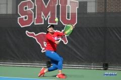 DALLAS, TX - NOVEMBER 04: Sarai Monarrez Yesaki during the SMU women's tennis Red and Blue Challenge on November 4, 2017, at the SMU Tennis Complex, Turpin Stadium & Brookshire Family Pavilion in Dallas, TX. (Photo by George Walker/DFWsportsonline)