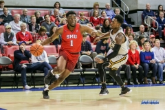 DALLAS, TX - NOVEMBER 10: Southern Methodist Mustangs guard Shake Milton (1) drives to the basket during the men's basketball game between SMU and UMBC on November 10, 2017, at Moody Coliseum, in Dallas, TX. (Photo by George Walker/DFWsportsonline)