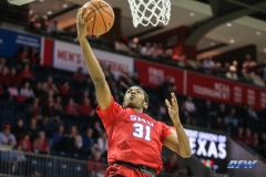 UNIVERSITY PARK, TX - NOVEMBER 10: Southern Methodist Mustangs guard Jimmy Whitt (31) goes to the basket during the men's basketball game between SMU and UMBC on November 10, 2017, at Moody Coliseum in Dallas, TX.(Photo by George Walker/Icon Sportswire)