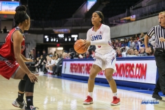 DALLAS, TX - NOVEMBER 10: Southern Methodist Mustangs guard Kiara Perry (0) during the women's basketball game between SMU and Nicholls on November 10, 2017, at Moody Coliseum, in Dallas, TX. (Photo by George Walker/DFWsportsonline)
