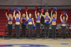 DALLAS, TX - NOVEMBER 10: SMU Pom Squad during the women's basketball game between SMU and Nicholls on November 10, 2017, at Moody Coliseum, in Dallas, TX. (Photo by George Walker/DFWsportsonline)