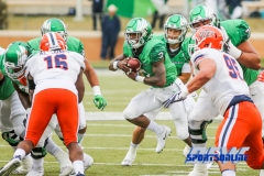 Denton, TX - November 11: North Texas Mean Green running back Jeffery Wilson (3) during the game between the North Texas Mean Green and UTEP Miners (Photo by Mark Woods/DFWsportsonline)